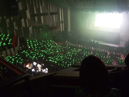 会場全体が緑