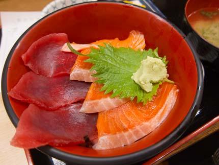 マグロサーモン丼