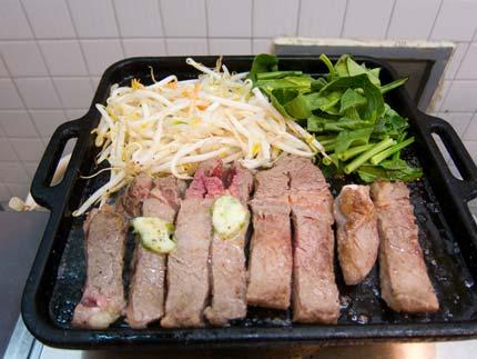 ポパイセット1380円250gのステーキ