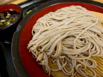 富士そばでざる蕎麦