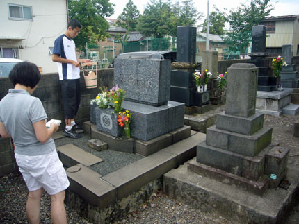 義父の墓参り