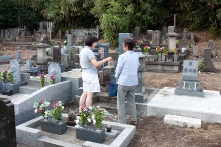 父方祖父母の墓参り