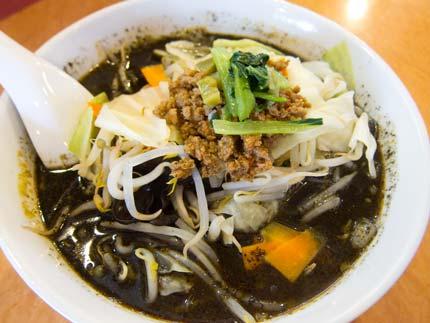 黒ゴマ野菜担々麺800円