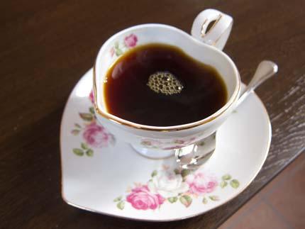 コーヒーカップがハート型