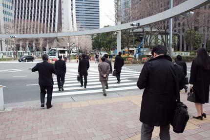 東京の人たちは、忙しそう