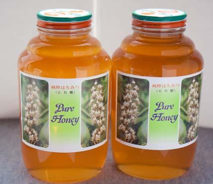 とち蜜を2升(4.8kg)