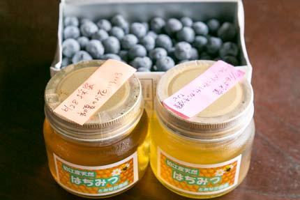 蜂蜜とブルーベリー