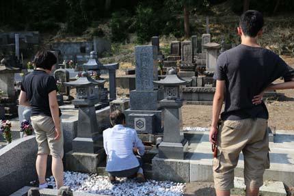 父方の本家の墓参り