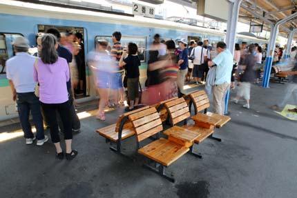 電車の乗降客