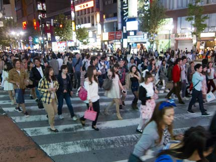 賑わう渋谷の街