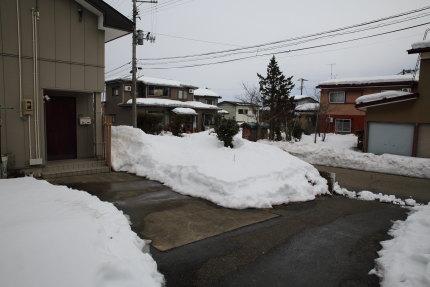 上越市大貫の雪の様子