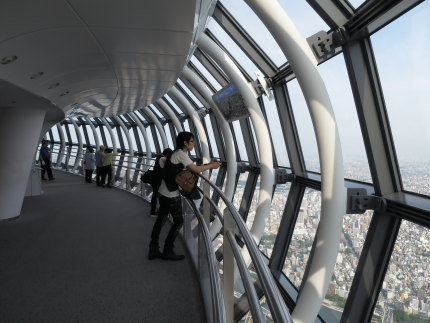 450mの展望回廊