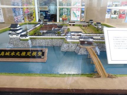 福島城のジオラマ