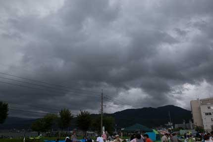 雲行きが怪しく
