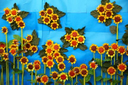 ひまわりの造花