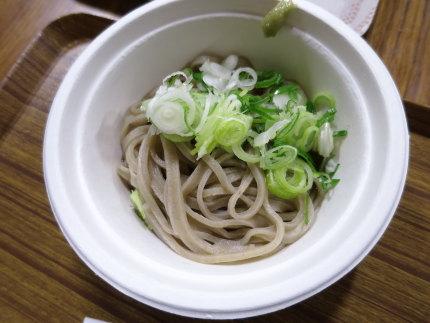 小盛りの蕎麦