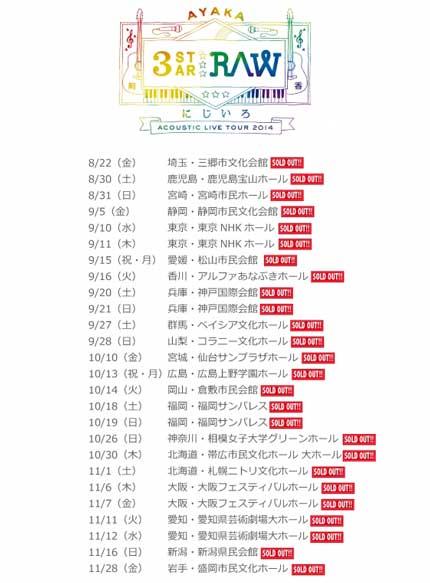 絢香 にじいろAcoustic Live Tour 2014 〜3-STAR RAW〜