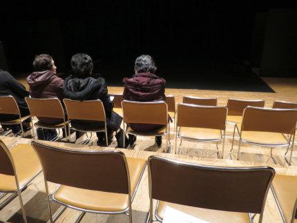 ステージの上に観覧席