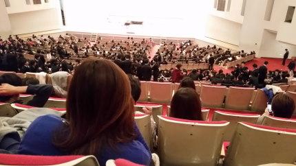 上越文化会館での校内合唱コンクール