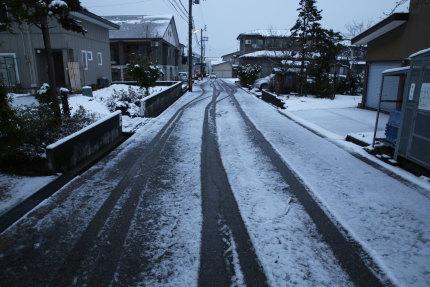 3月24日(火)に雪が降りました