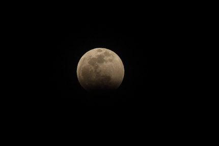 月が欠け始めました