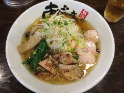 野菜トッピング200円入り旨塩鶏麺810円