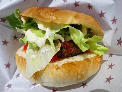 ボリュームあるハンバーガー
