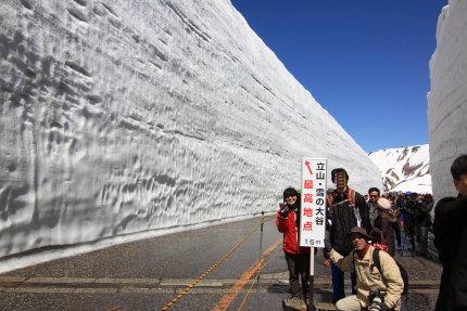 立山・雪の大谷最高地点