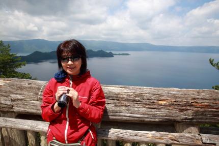 愛妻と十和田湖