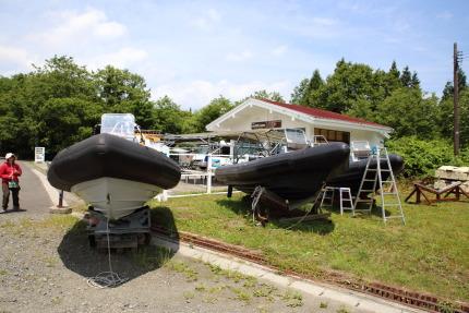 十和田湖遊覧モーターボートの事務所
