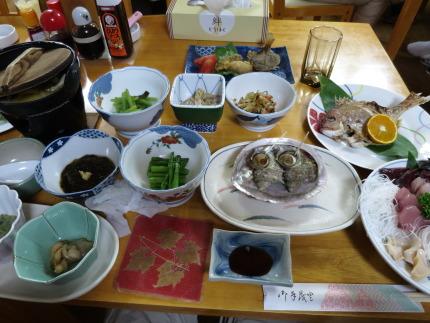 民宿 汐ケ島さんの夕食