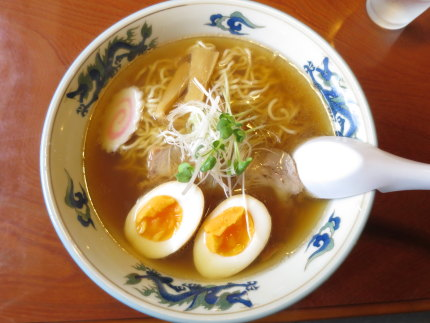 煮干げん骨らーめん650円+味玉クーポン