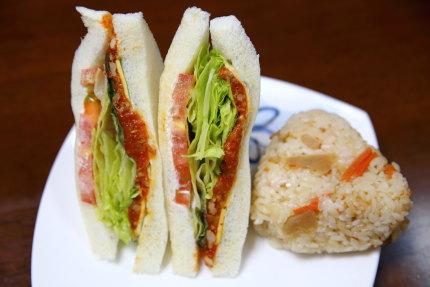 3種のレタス&タコスミートサンド、生姜香る!根菜ご飯で仕立てた鮭むすび