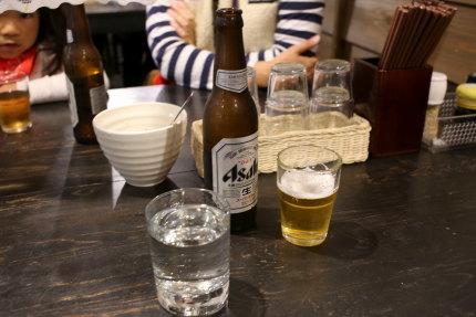 日本酒君の井1合と瓶ビール小瓶1本