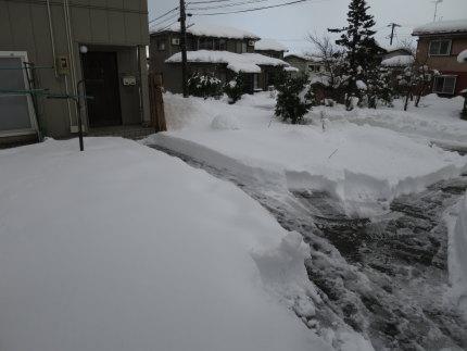 40cmくらいの積雪