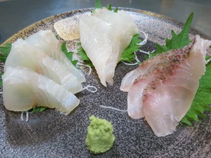 地元産の白身魚3種