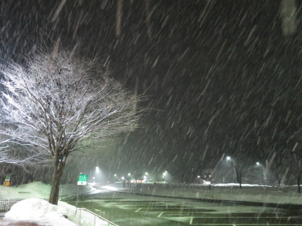 雪交じりの天候