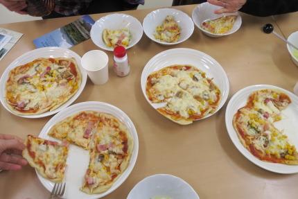 ピザのできあがり