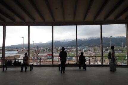 上越妙高駅から見える妙高の景色