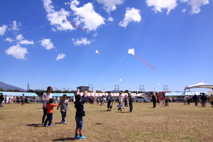 凧を作って青空いっぱいに揚げていました