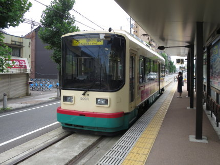 可愛らしい路面電車