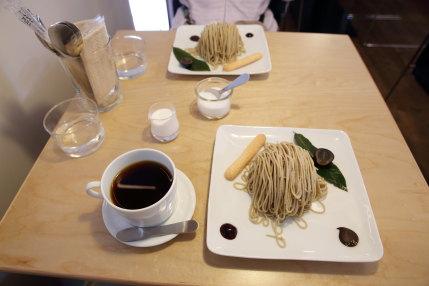 「モンブラン朱雀」1250円(税込)ドリンク付