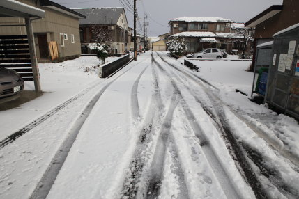 1月11日(水)、高田観測所記録 降雪量11cm積雪量10cm
