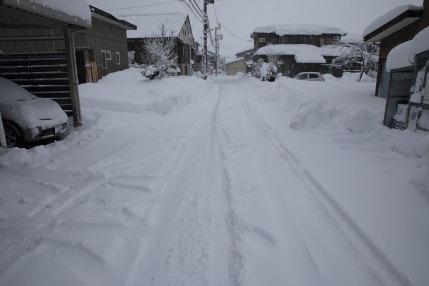 1月14日(土)、高田観測所記録 降雪量50cm積雪量66cm