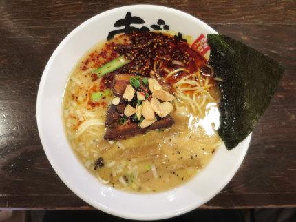 辣鹽濁白湯麺(辛塩とんこつらーめん)860円(税込)