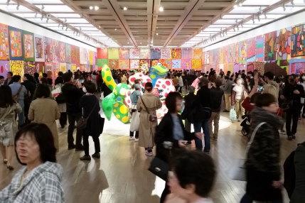 草間彌生展の写真撮影可能な展示