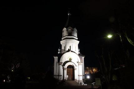 函館ハリストス正教会のライトアップ