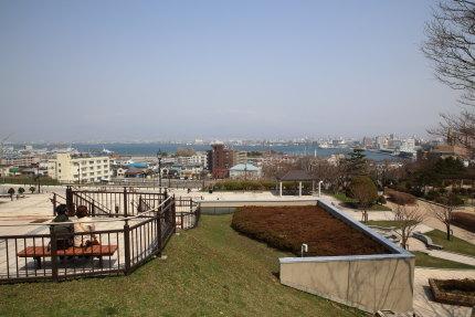 元町公園から見た函館港