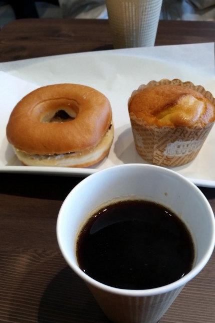 コーヒーとドーナッツ