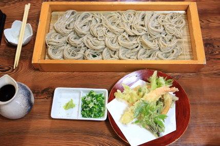 天ぷらそばセットと盛りそば大盛り
